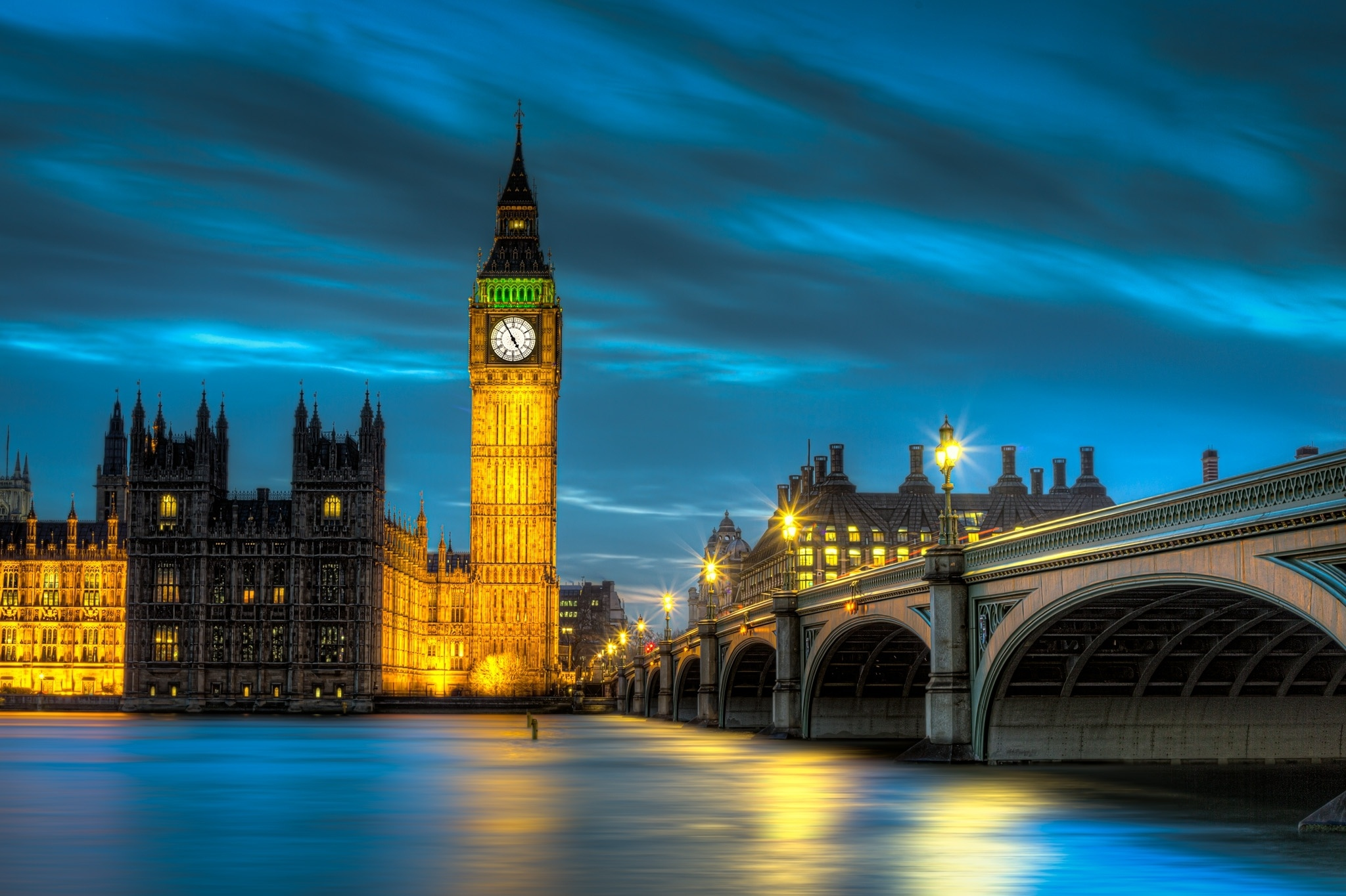 London At Night Hd Wallpaper Background Image 2048x1365 Id