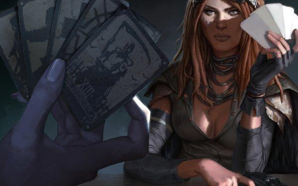 Sci Fi Women Gun Card Steampunk Goggles HD Wallpaper | Background Image