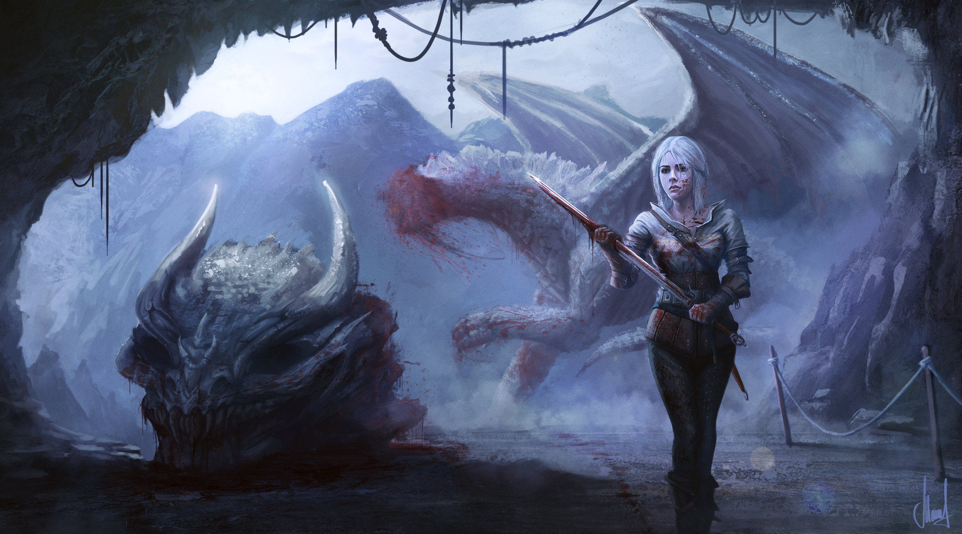 The Witcher Wild Hunt Ciri by Mujia Liao [xpost r