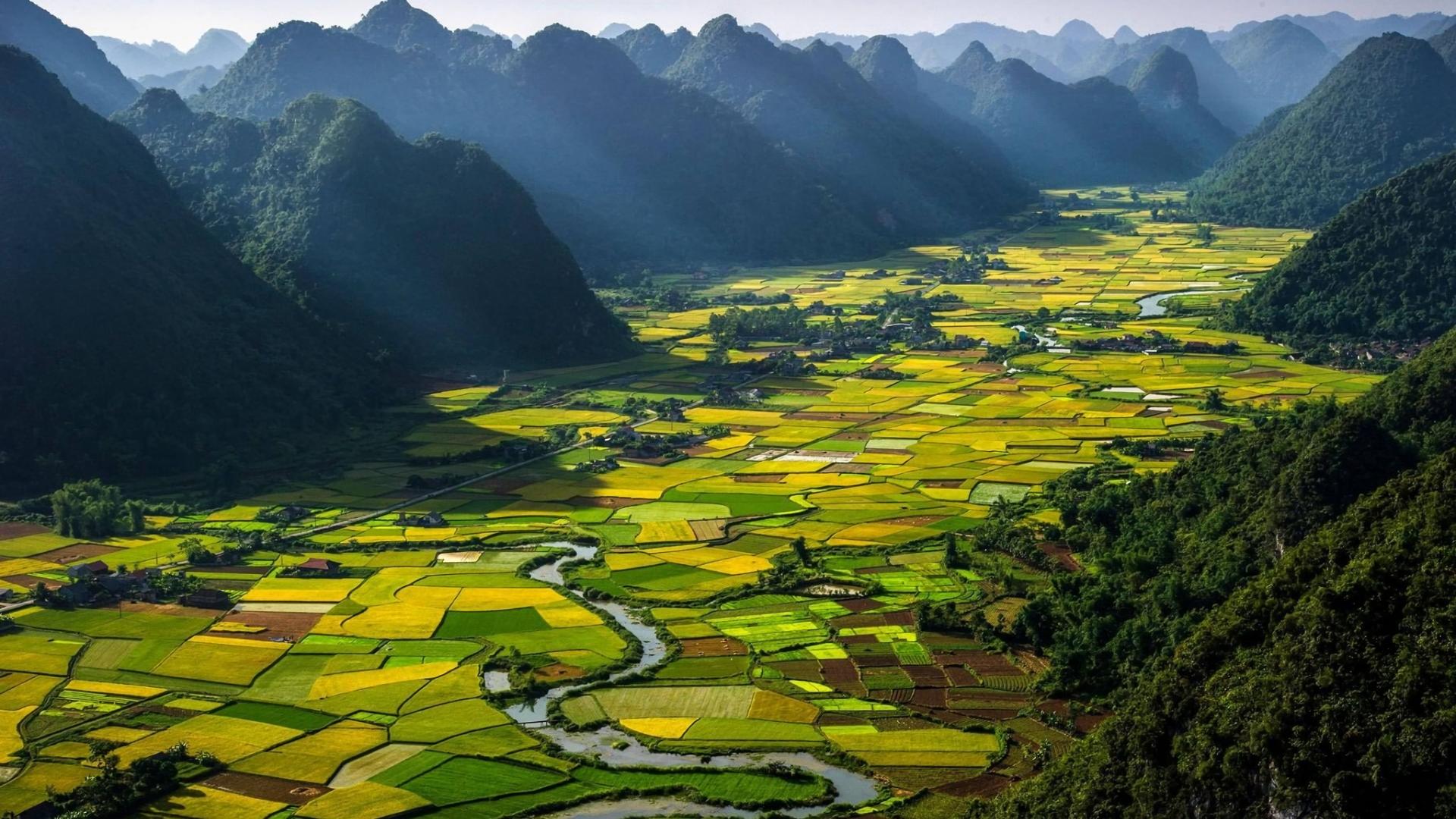 Vietnam Landscape Hd Wallpaper Hintergrund 1920x1080 Id708304