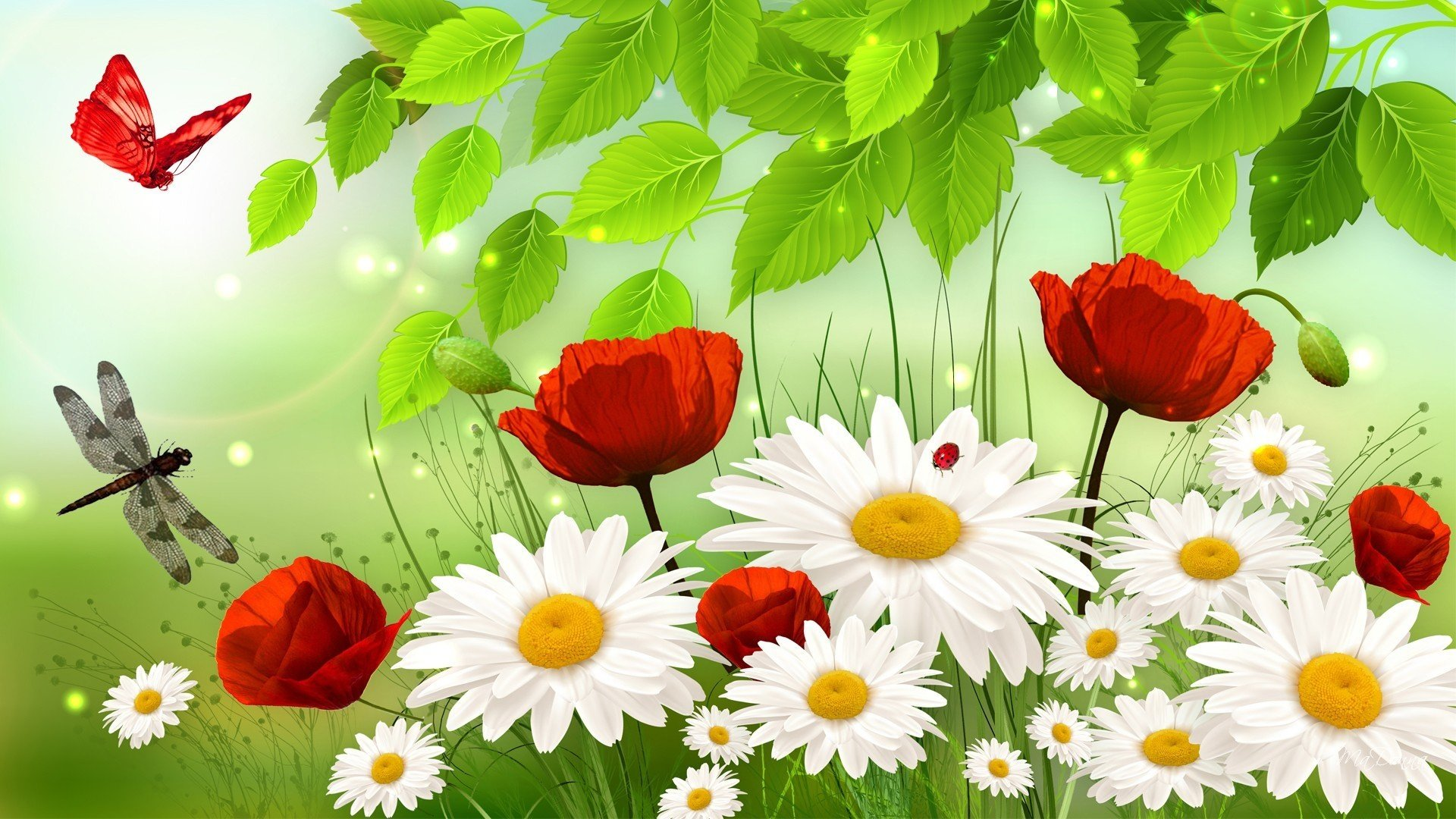 Springtime full hd fond d 39 cran and arri re plan for Fond ecran ete fleurs