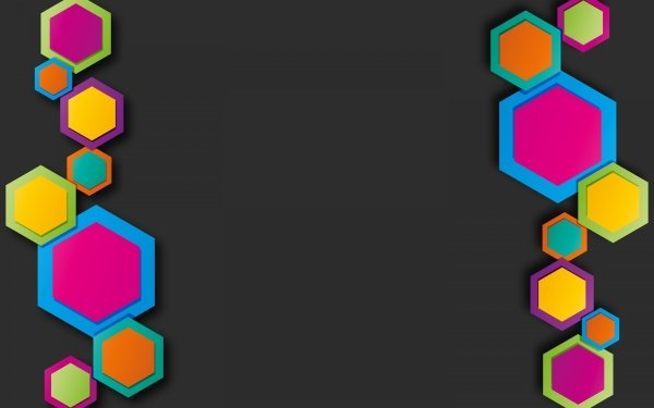 Abstract Colors Hexagon HD Wallpaper | Background Image