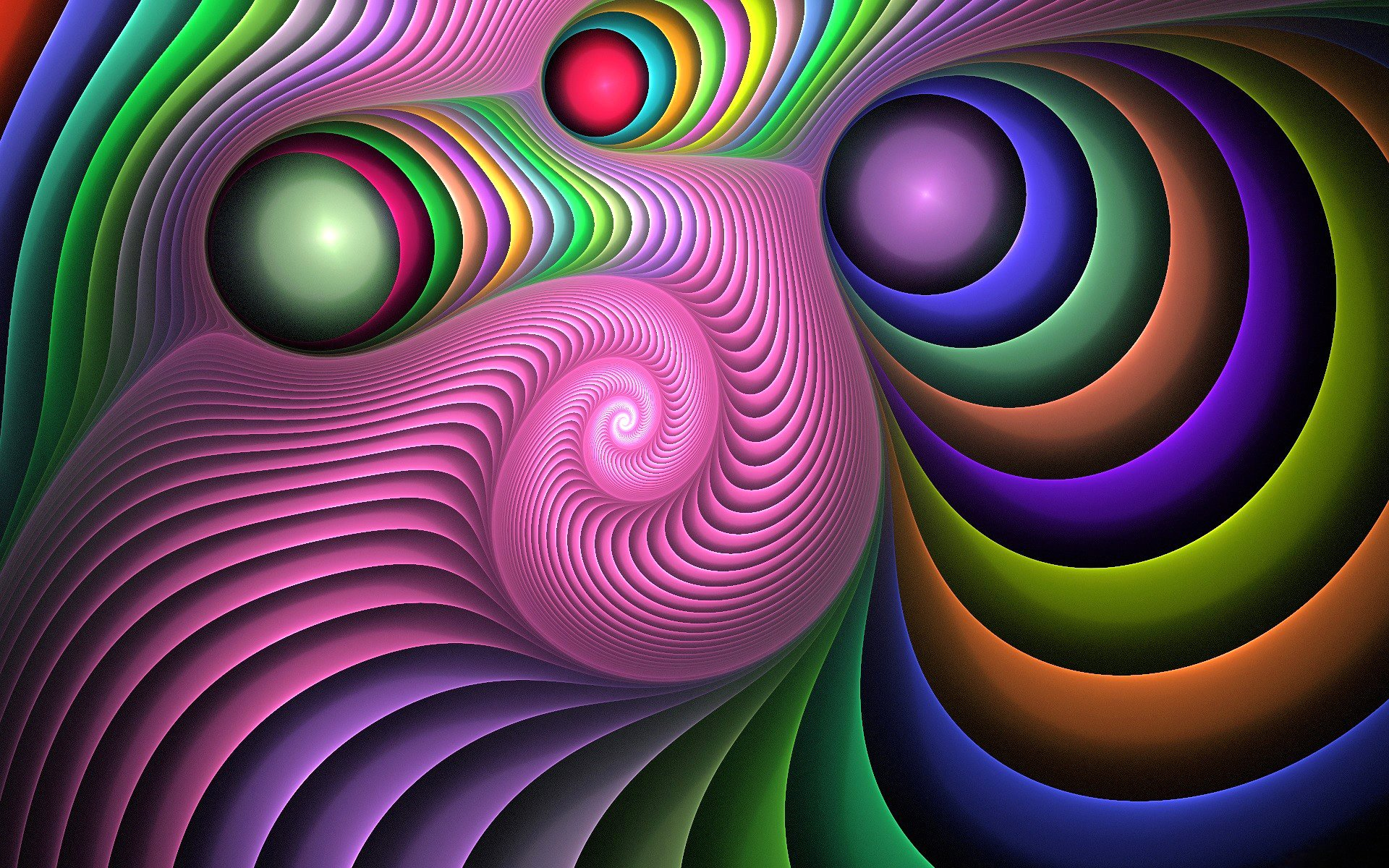 Abstract - Colors  Pattern Fractal Abstract Wallpaper
