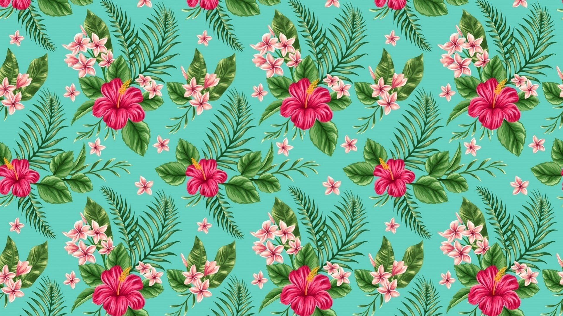 Abstract - Pattern  Pink Flower Abstract Flower Hibiscus Wallpaper