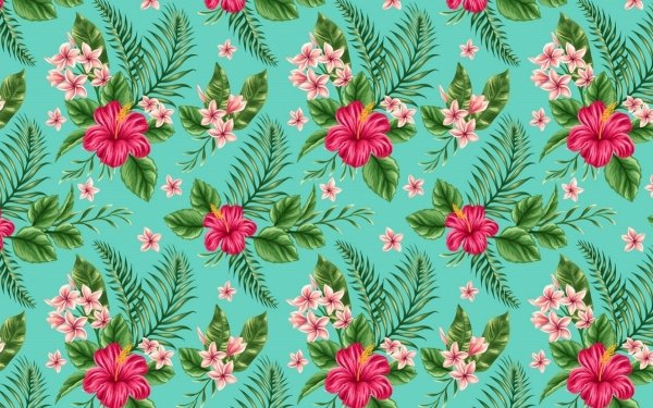 Abstract Pattern Flower Hibiscus Pink Flower HD Wallpaper   Background Image
