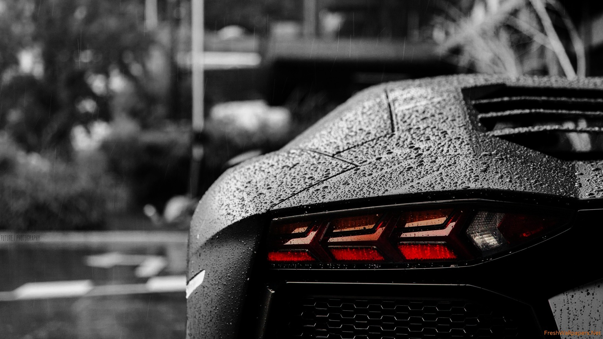 aventador in the rain full hd duvarka d and arka plan 1920x1080 id 712173. Black Bedroom Furniture Sets. Home Design Ideas