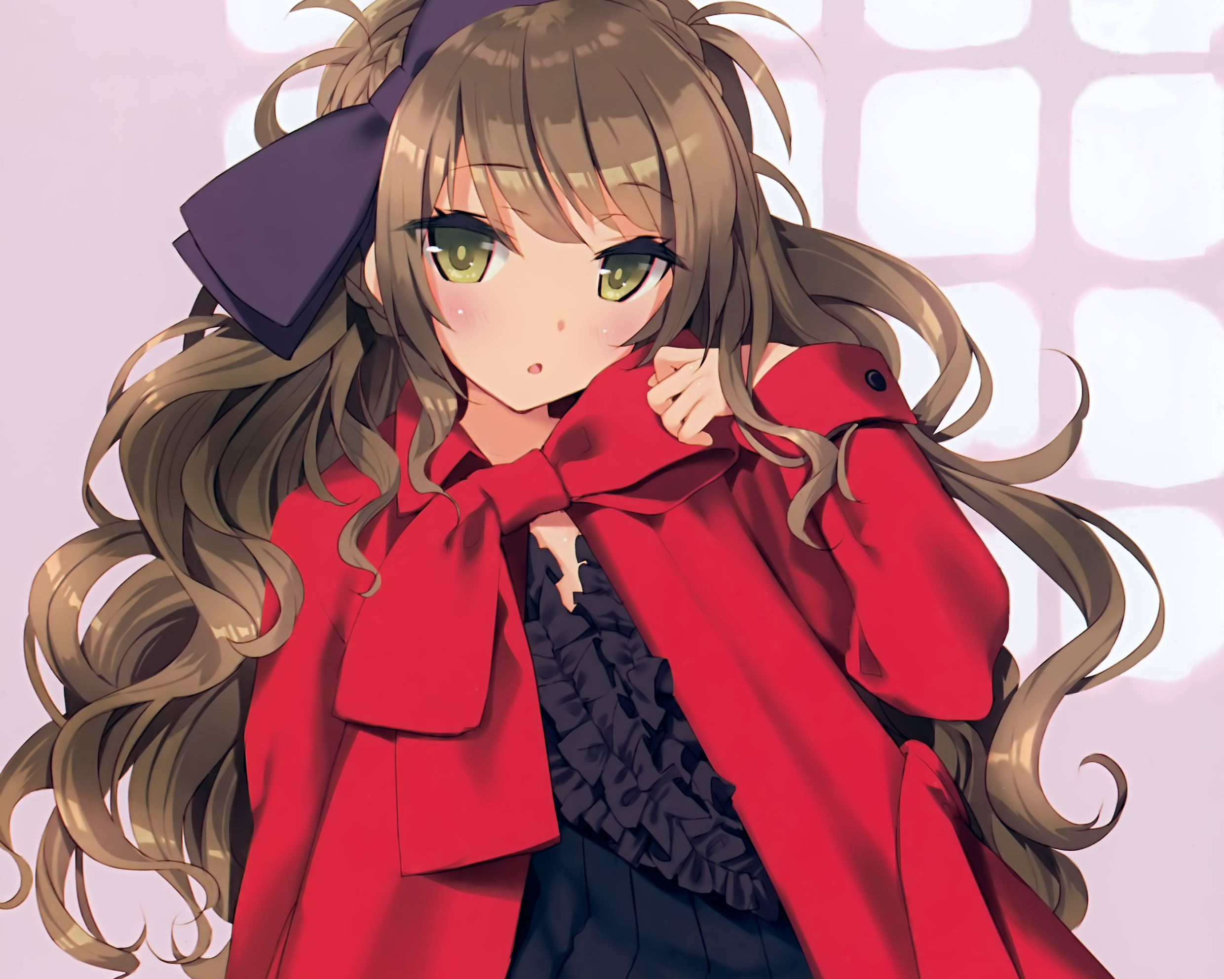 Anime Girl With Long Brown Hair And Green Eyes