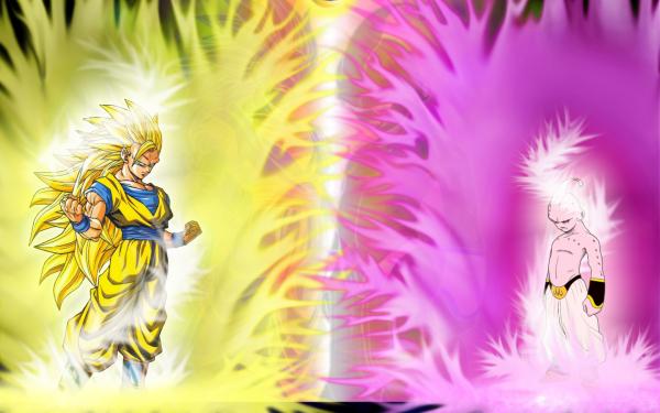 Anime Dragon Ball Z Dragon Ball Goku Majin Buu Super Saiyan 3 HD Wallpaper   Background Image