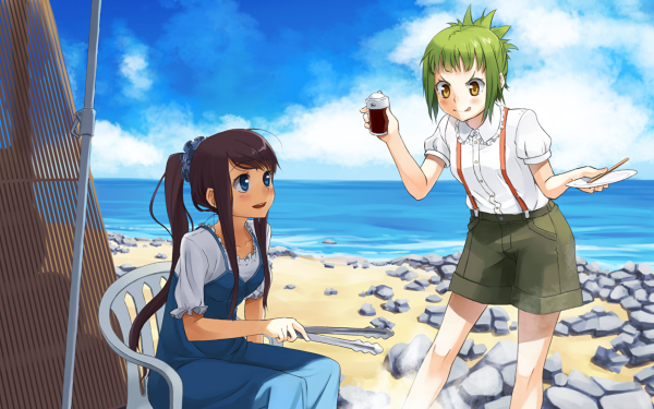 Anime Amanchu! Hikari Kohinata Futaba Ooki HD Wallpaper | Background Image