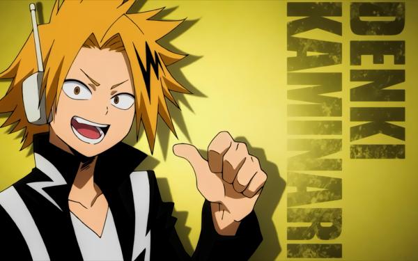 Anime My Hero Academia Denki Kaminari HD Wallpaper | Background Image