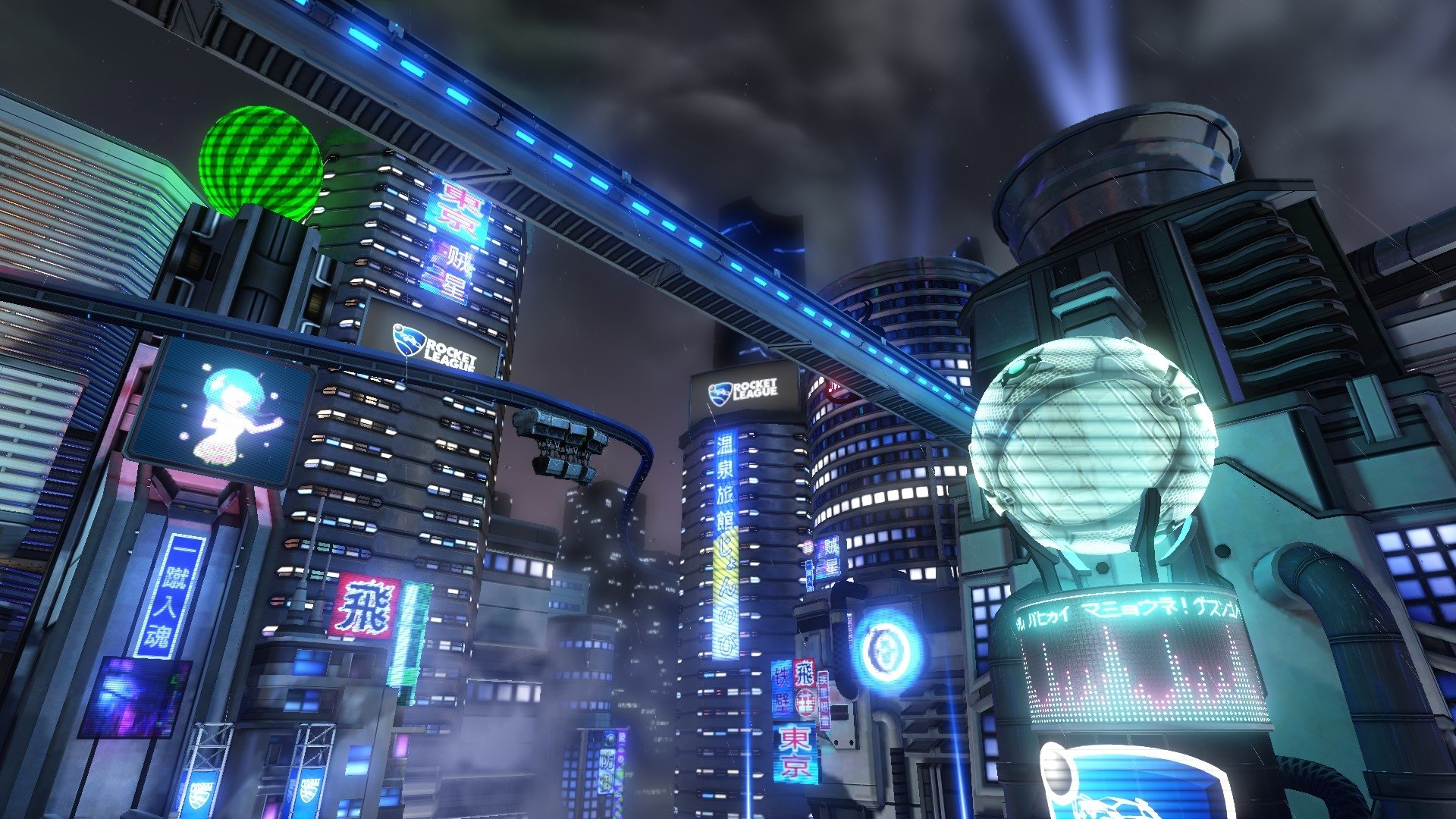 Video Game - Rocket League  Video Game City Tokyo Wallpaper