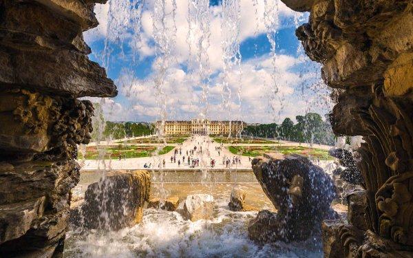 Man Made Schönbrunn Palace Palaces Austria Vienna Palace Garden Fountain HD Wallpaper   Background Image