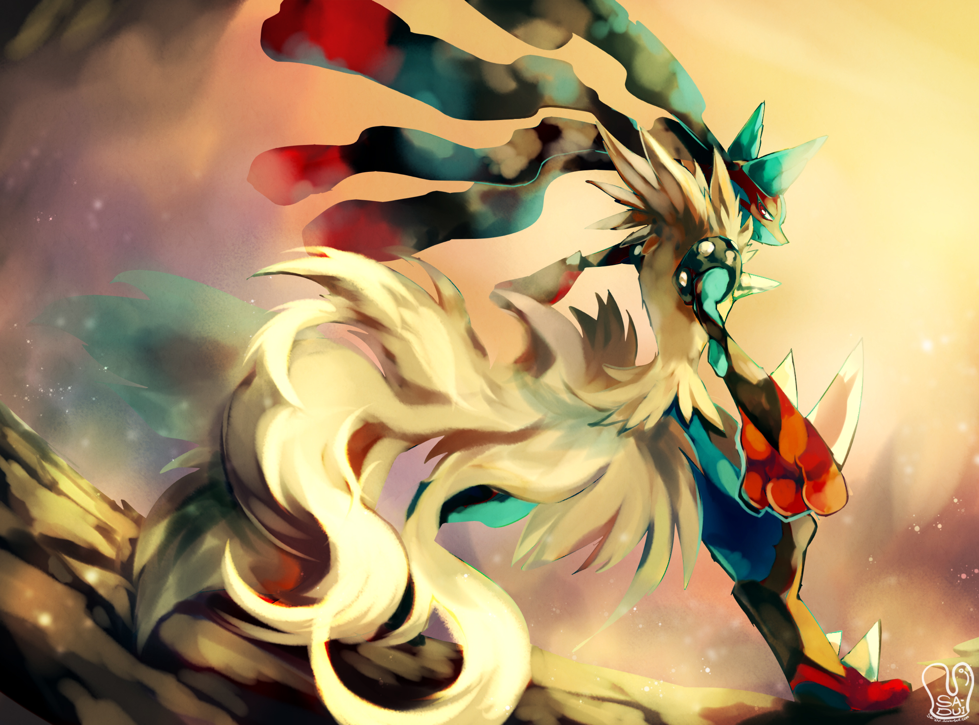 Mega Lucario Full HD Wallpaper And Background Image