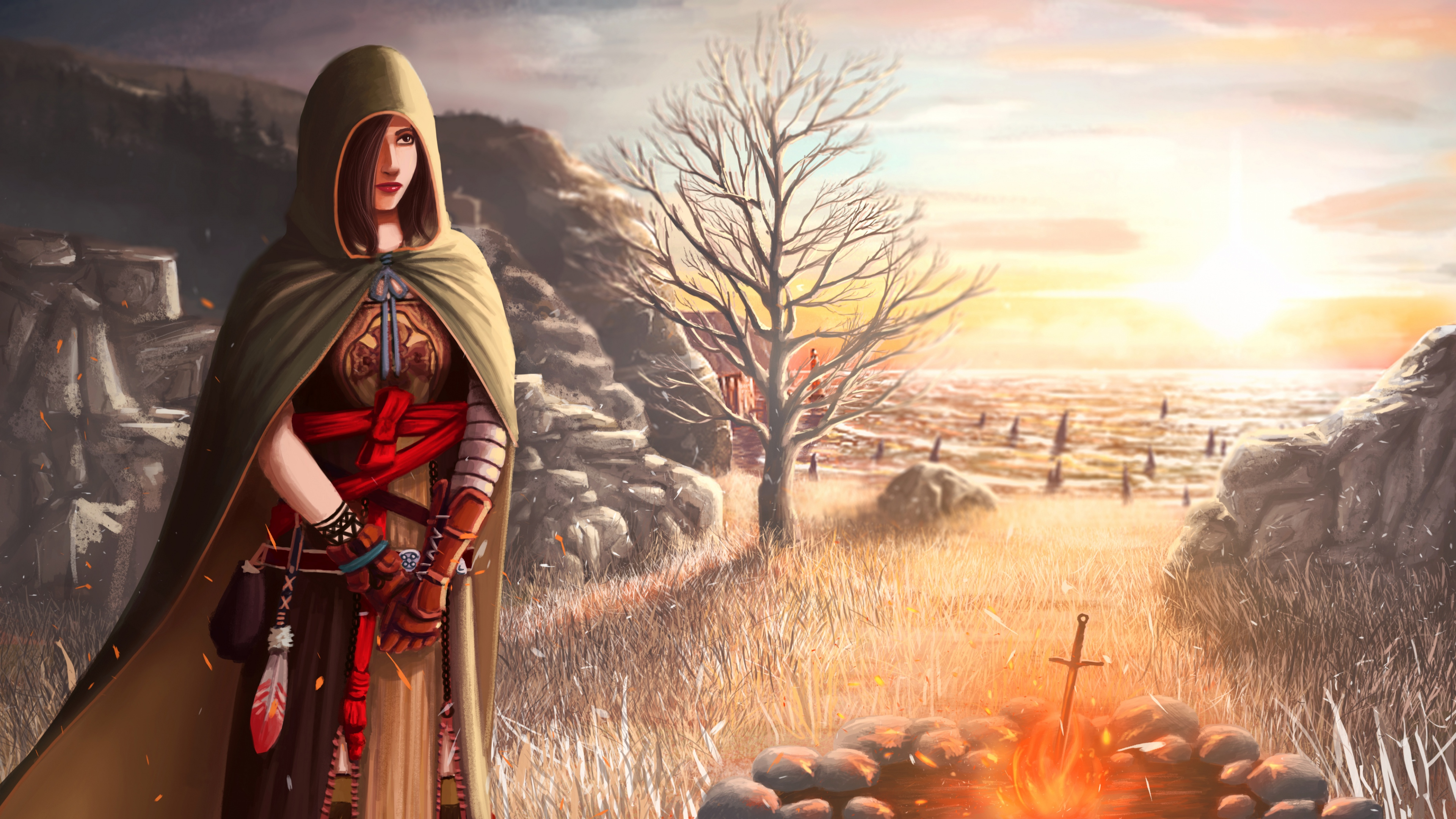 Dark souls II girl 4k Ultra HD Wallpaper | Background Image | 3840x2160 |  ID:717208 - Wallpaper Abyss