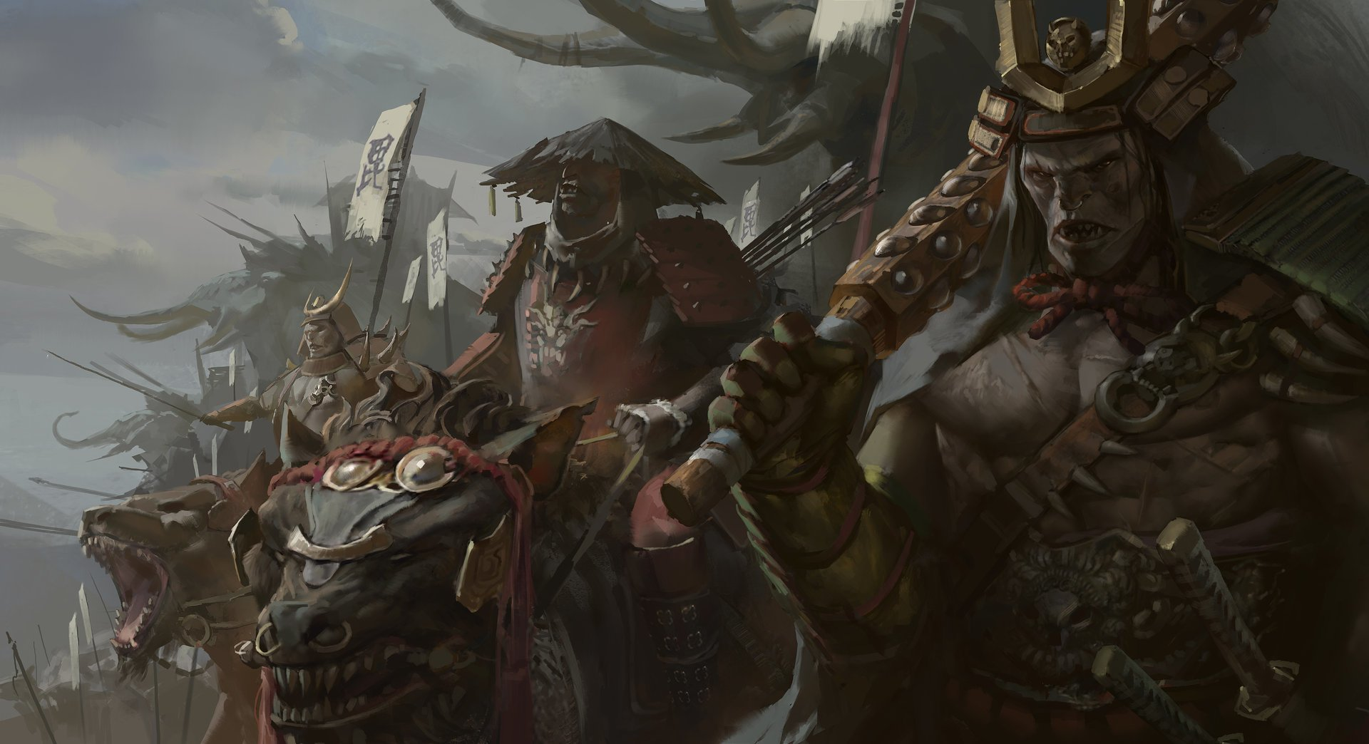 Fantasy - Orc  Samurai Warrior Wallpaper