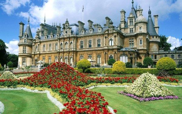 Man Made Waddesdon Manor Palaces United Kingdom England Castle HD Wallpaper | Background Image