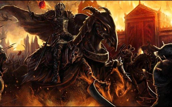 Fantasy Battle Horse Knight HD Wallpaper | Background Image