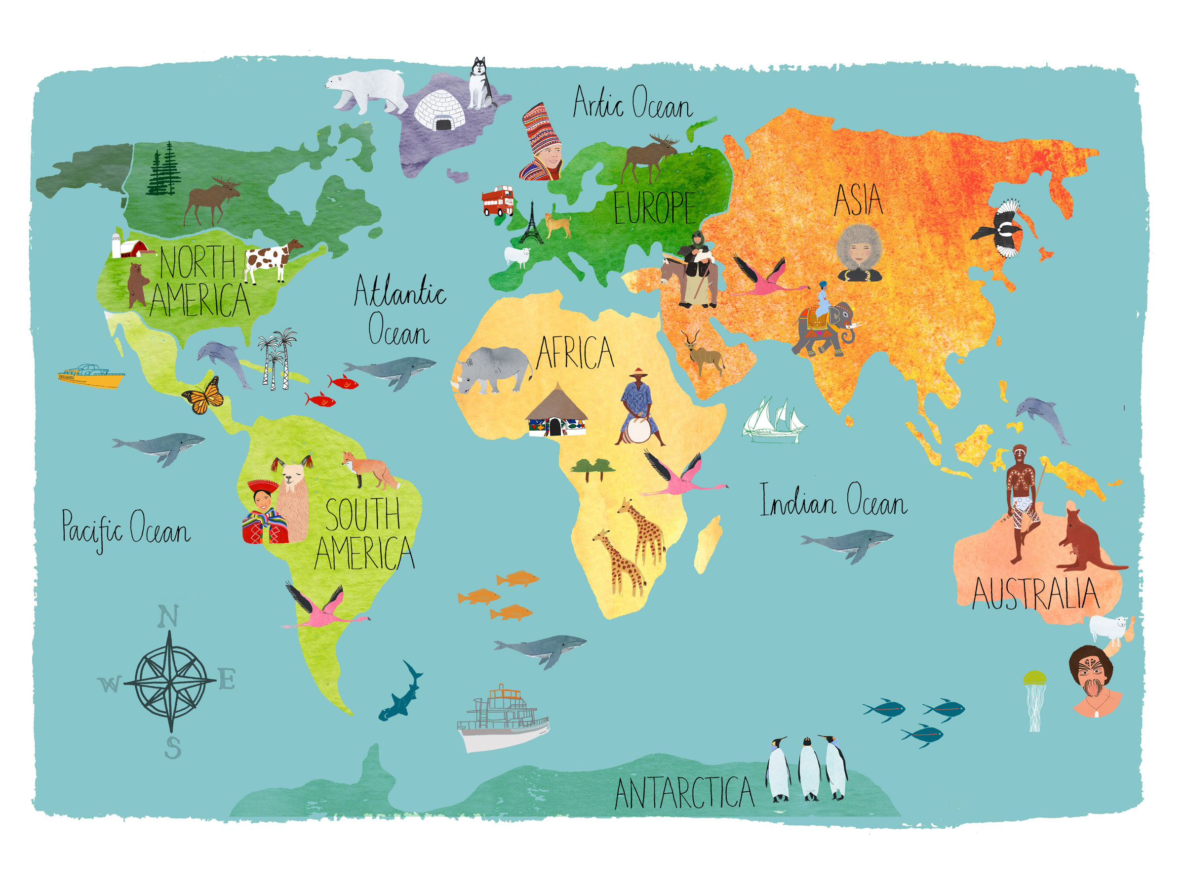 World map for kids hd wallpaper background image 2400x1800 id world map wallpapers id719671 gumiabroncs Choice Image