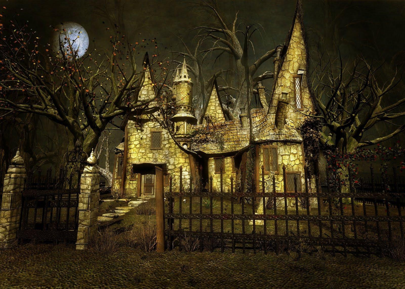 Artistico - Casa  Artistico Fantasy Staccionate Unusual Spooky Sfondo