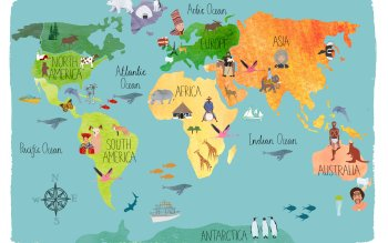 Misc World Map Artistic Map HD Wallpaper | Background Image