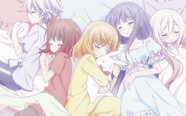 Anime Anne Happy Anne Hanakoizumi Ren Ekoda Hibiki Hagyu Ruri Hibarigaoka Botan Kumegawa HD Wallpaper   Background Image