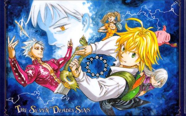 Anime The Seven Deadly Sins Meliodas Elizabeth Liones Hawk Diane Ban HD Wallpaper | Background Image