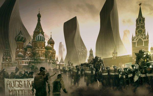 Video Game Deus Ex: Mankind Divided Deus Ex Moscow HD Wallpaper | Background Image