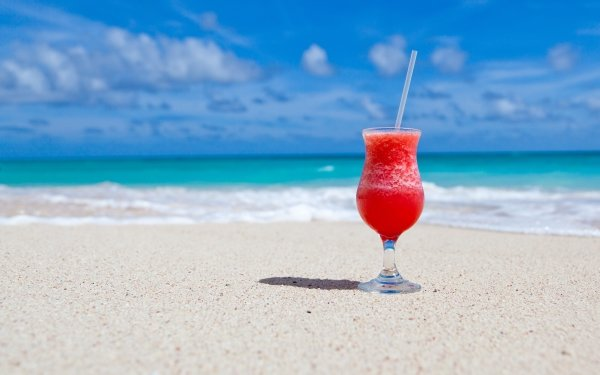 Food Cocktail Drink Beach Sand Glass Summer HD Wallpaper | Background Image