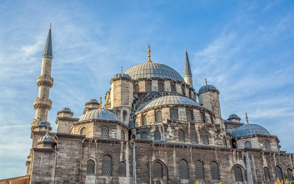 Religious Mosque Mosques Yeni Mosque Turkey Istanbul Architecture Dome Tower HD Wallpaper | Background Image