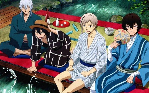 Anime Bungou Stray Dogs Atsushi Nakajima Osamu Dazai Ranpo Edogawa Yukichi Fukuzawa HD Wallpaper | Background Image