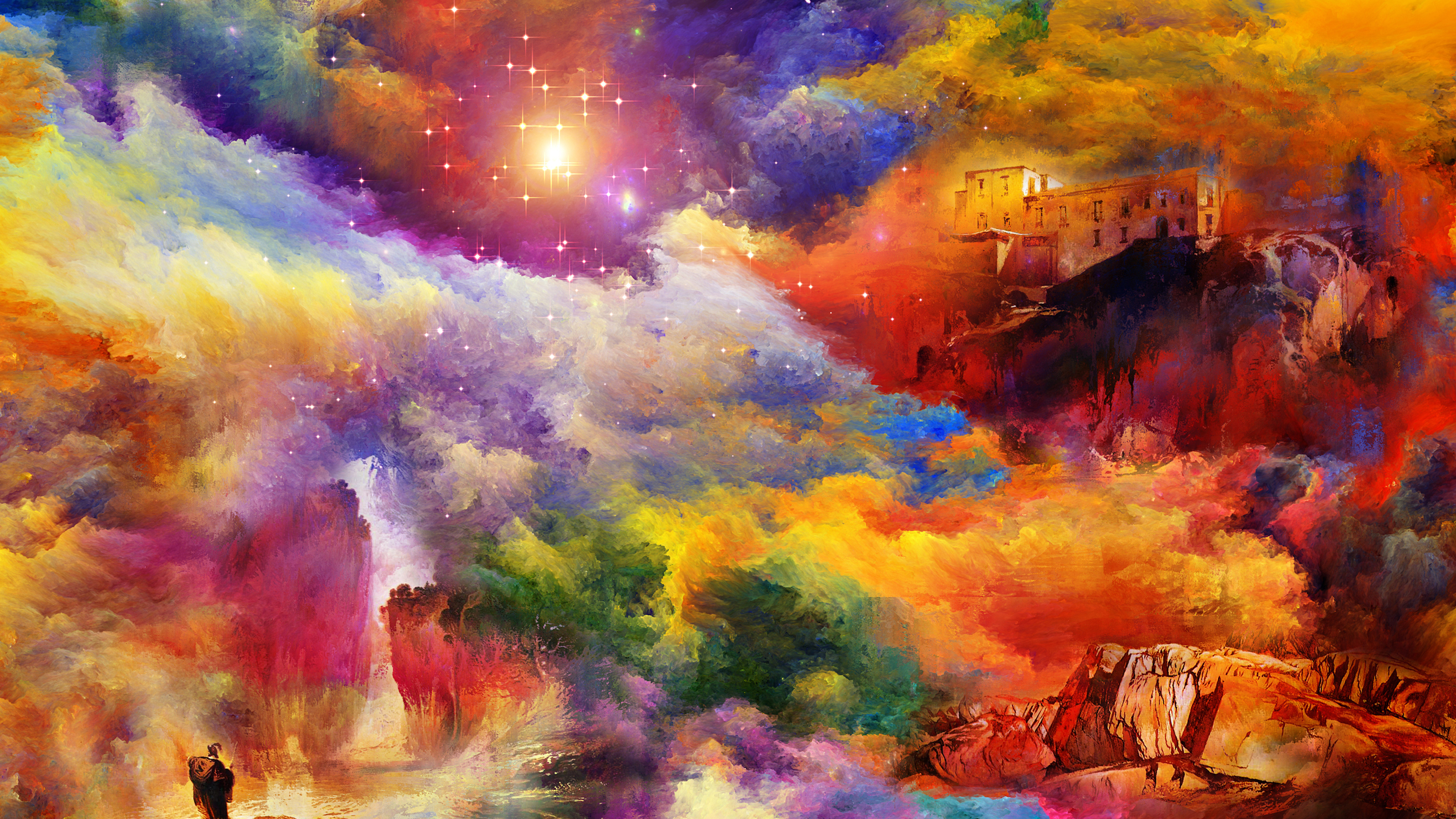 Fantasy Scenery 4k Hd Desktop Wallpaper For 4k Ultra Hd Tv: Fantasy Landscape 4k Ultra HD Wallpaper