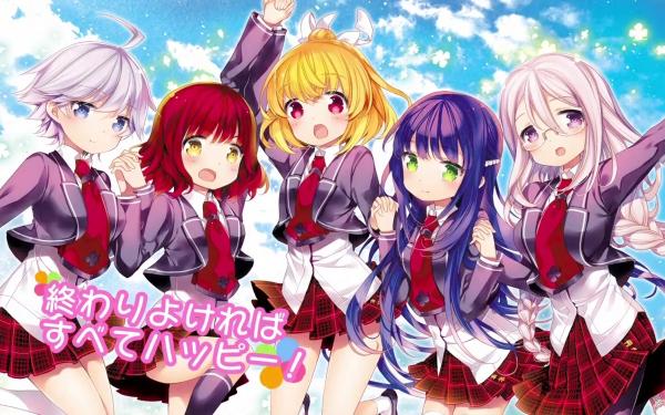 Anime Anne Happy Ruri Hibarigaoka Ren Ekoda Hibiki Hagyu Botan Kumegawa Anne Hanakoizumi HD Wallpaper   Background Image