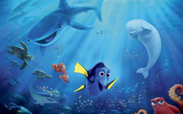 Movie Finding Dory Dory Nemo Marlin Bailey Destiny Crush Hank Mr. Ray HD Wallpaper   Background Image
