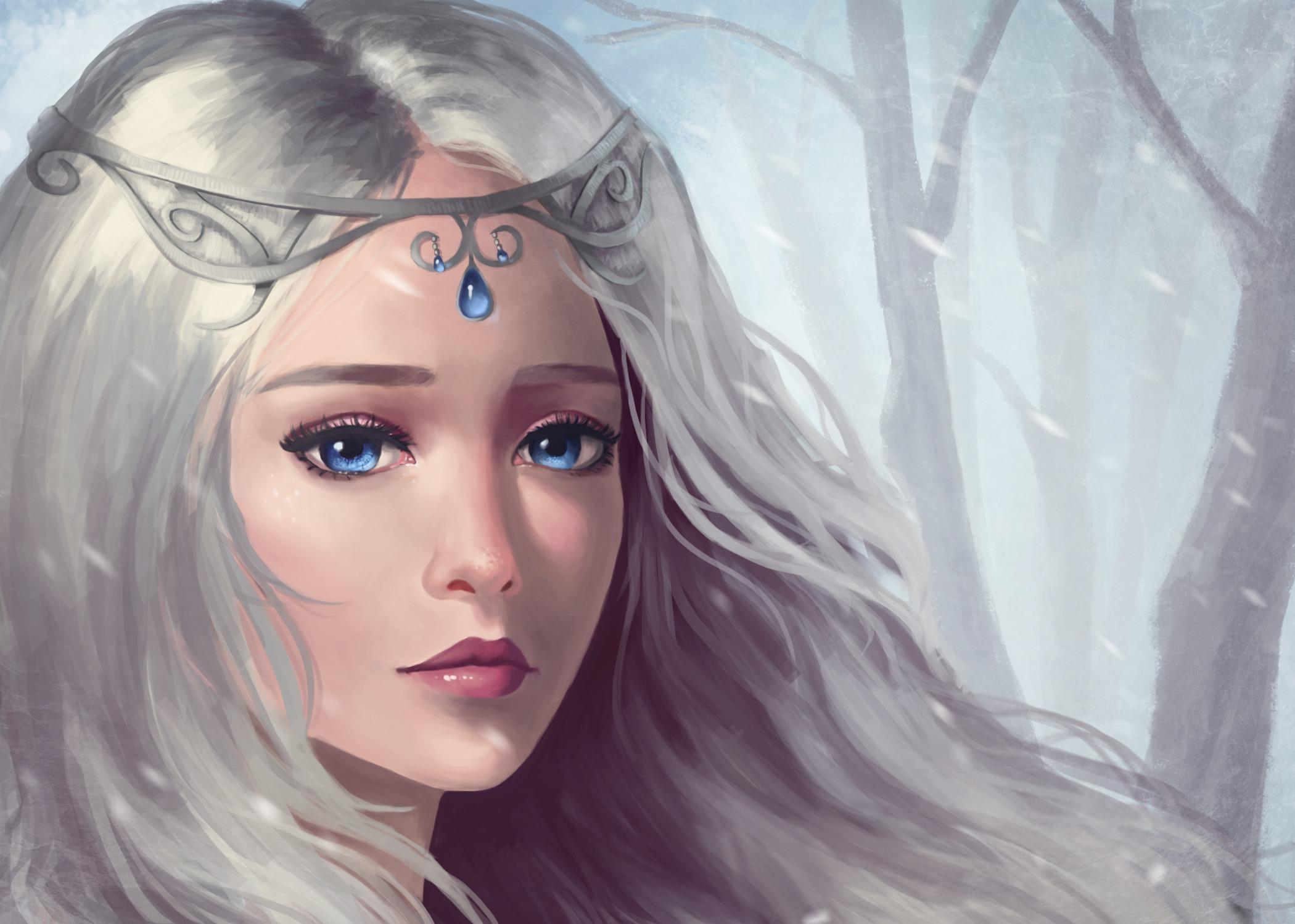 women fantasy eyes blue - photo #44