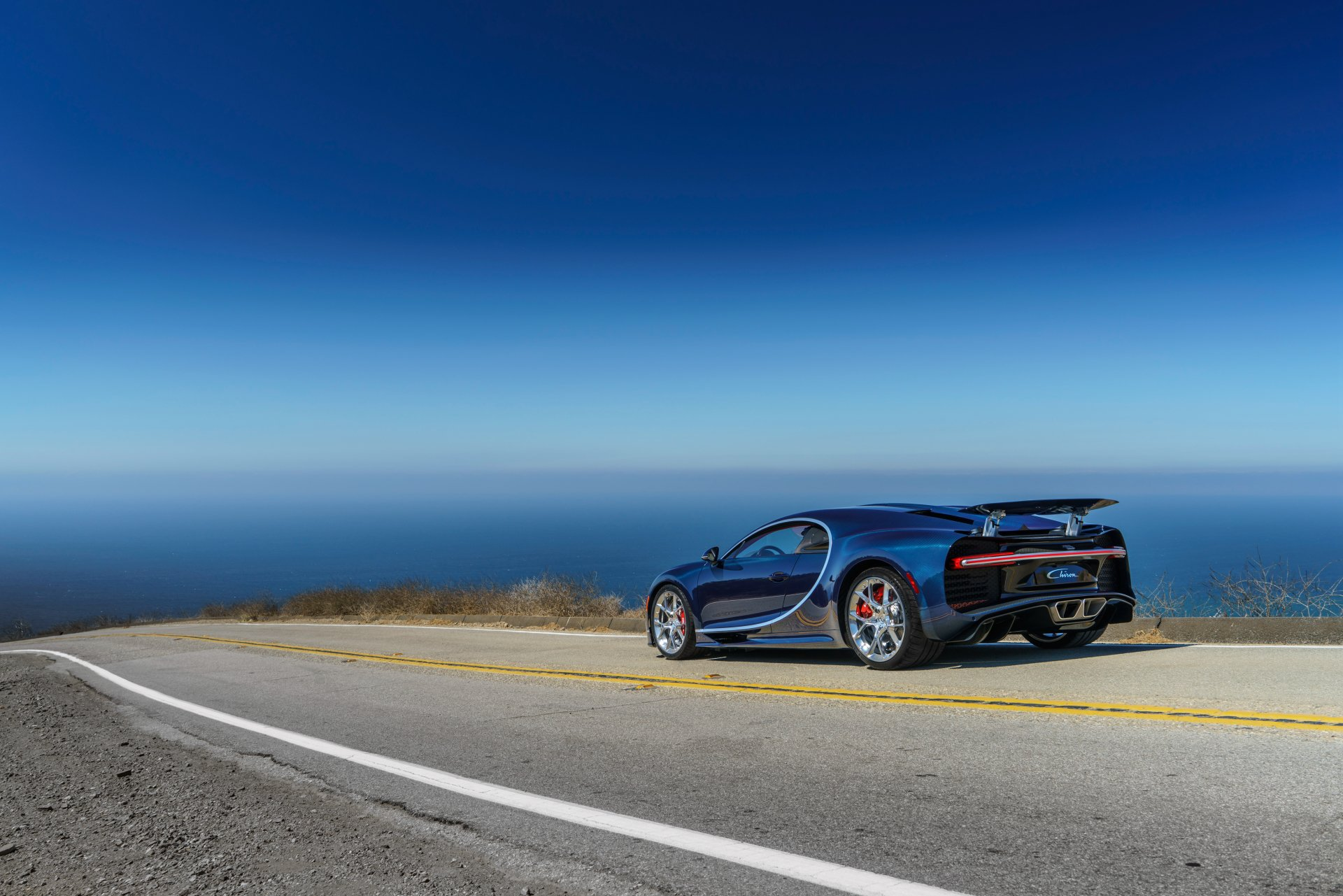 Vehicles - Bugatti Chiron  Bugatti Blue Car Car Vehicle Supercar Sport Car Wallpaper