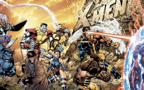 Comics X-Men Cyclops Wolverine Psylocke Colossus Rogue Gambit Beast Storm Iceman Jean Grey Charles Xavier Professor X Magneto Archangel HD Wallpaper | Background Image