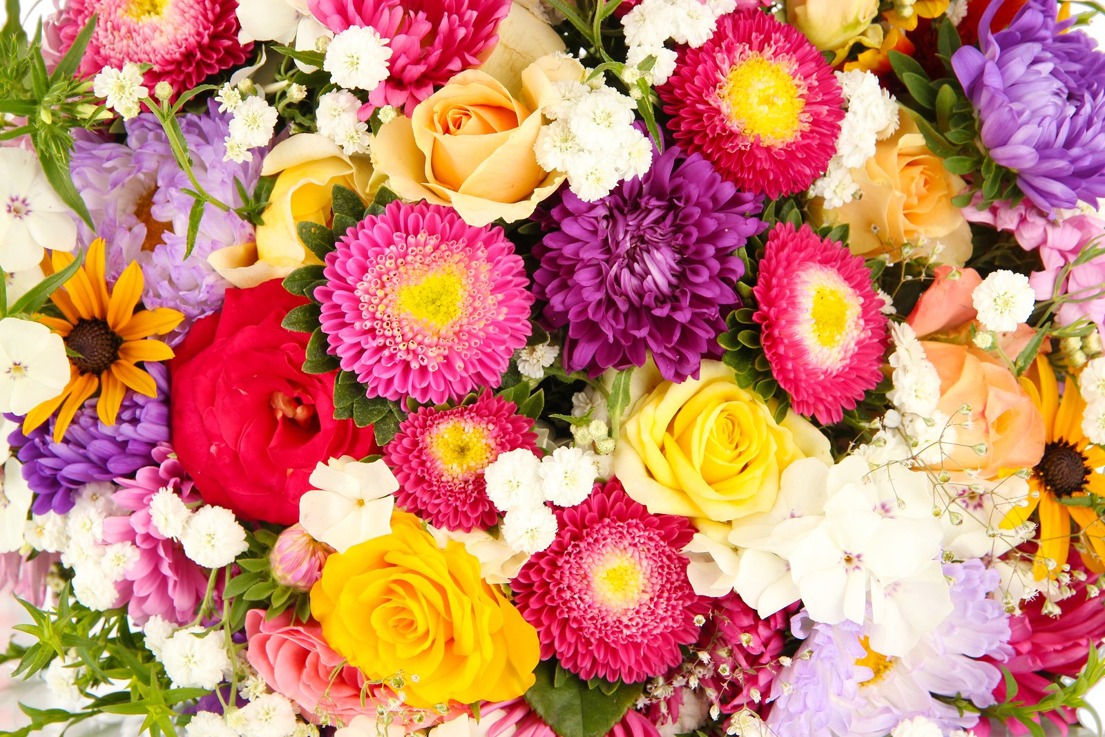 Bright Flower Wallpaper: Colorful Flowers Wallpaper And Background Image