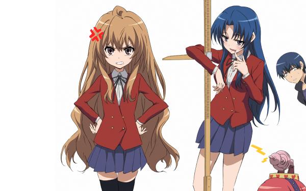Anime Toradora! Taiga Aisaka Ami Kawashima Ryuuji Takasu HD Wallpaper | Background Image