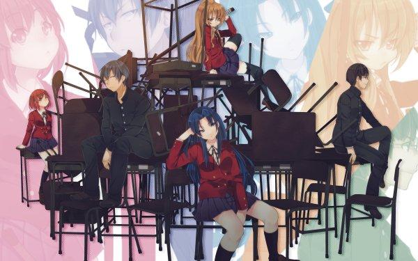 Anime Toradora! Minori Kushieda Ryuuji Takasu Taiga Aisaka Ami Kawashima Yusaku Kitamura HD Wallpaper | Background Image