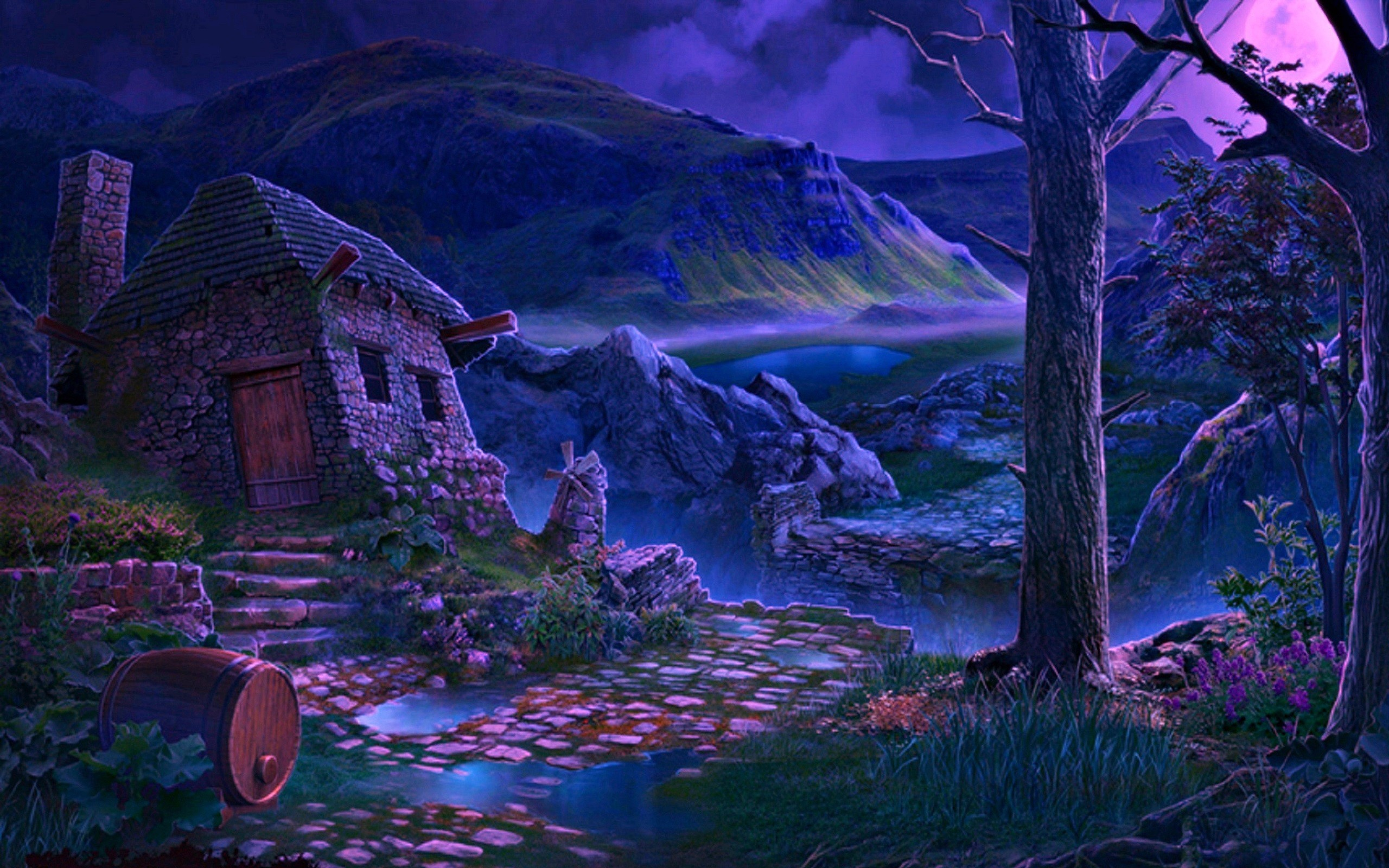 House In Fantasy Woods Hd Wallpaper Background Image 2560x1600