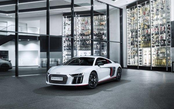 Véhicules Audi R8 V10 Audi Audi R8 Sport Car Voiture White Car Supercar Fond d'écran HD | Image