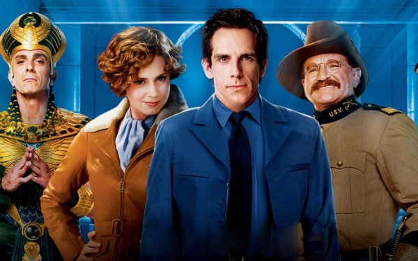 Movie Night at the Museum: Battle of the Smithsonian Ben Stiller Larry Daley Robin Williams Teddy Roosevelt HD Wallpaper | Background Image