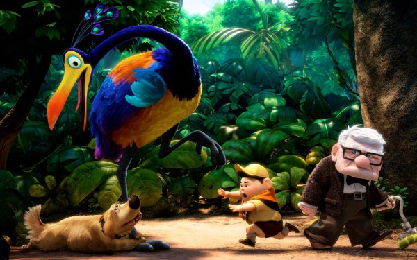 Movie Up Dog Bird Carl Fredricksen Russell Dug Kevin HD Wallpaper | Background Image