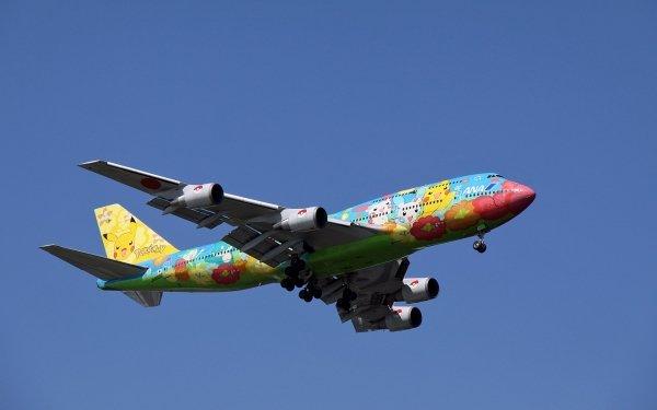 Vehicles Boeing 747 Aircraft Boeing Pokémon Airplane Passenger Plane HD Wallpaper | Background Image