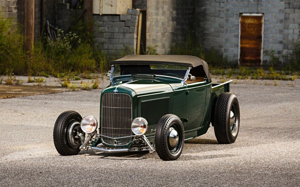 Vehicles Ford Roadster Ford 1932 Ford Roadster Hot Rod Vintage Car Pickup Truck HD Wallpaper | Background Image