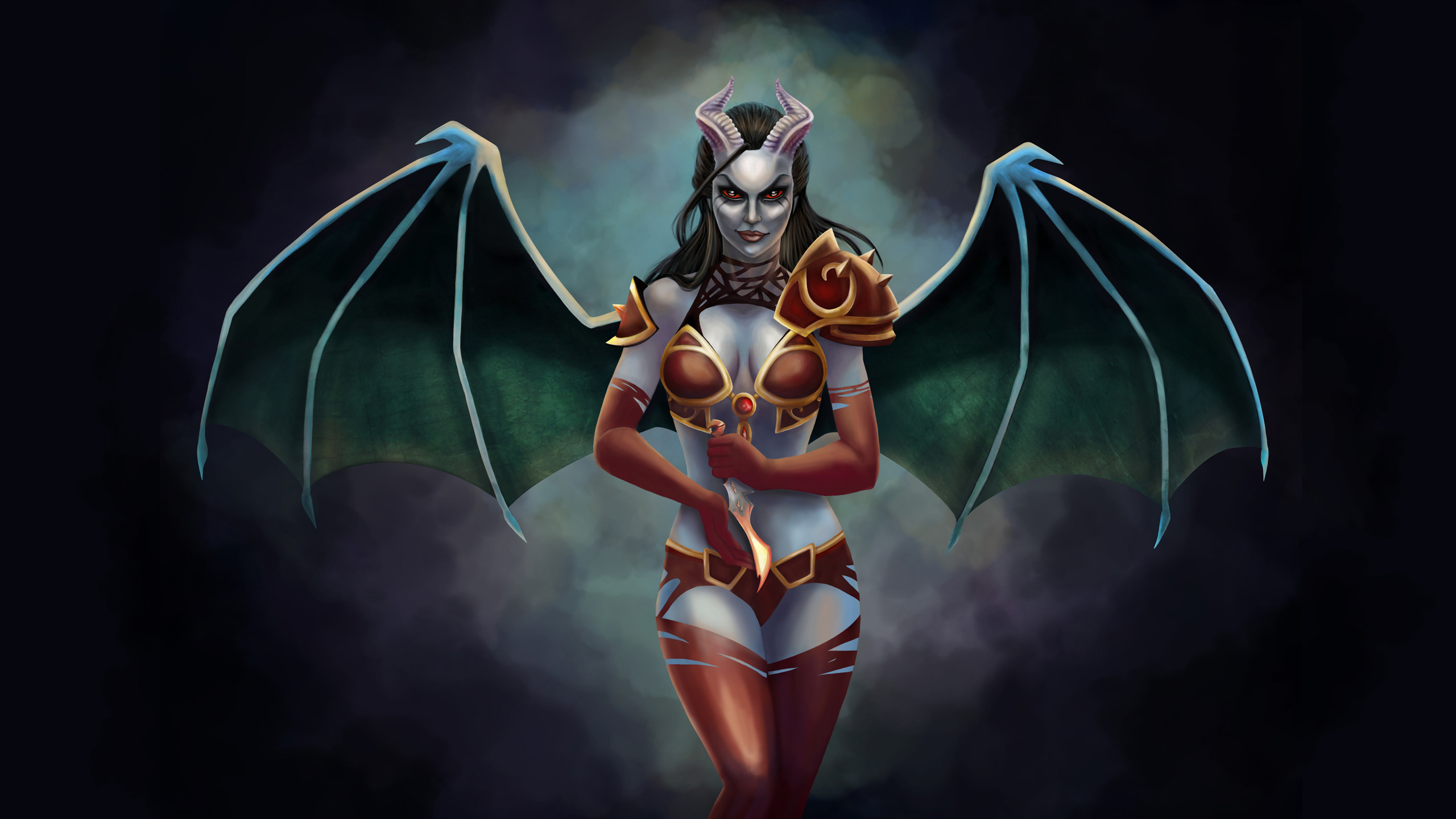 Dota 2 Queen Of Pain Hd Wallpaper Background Image