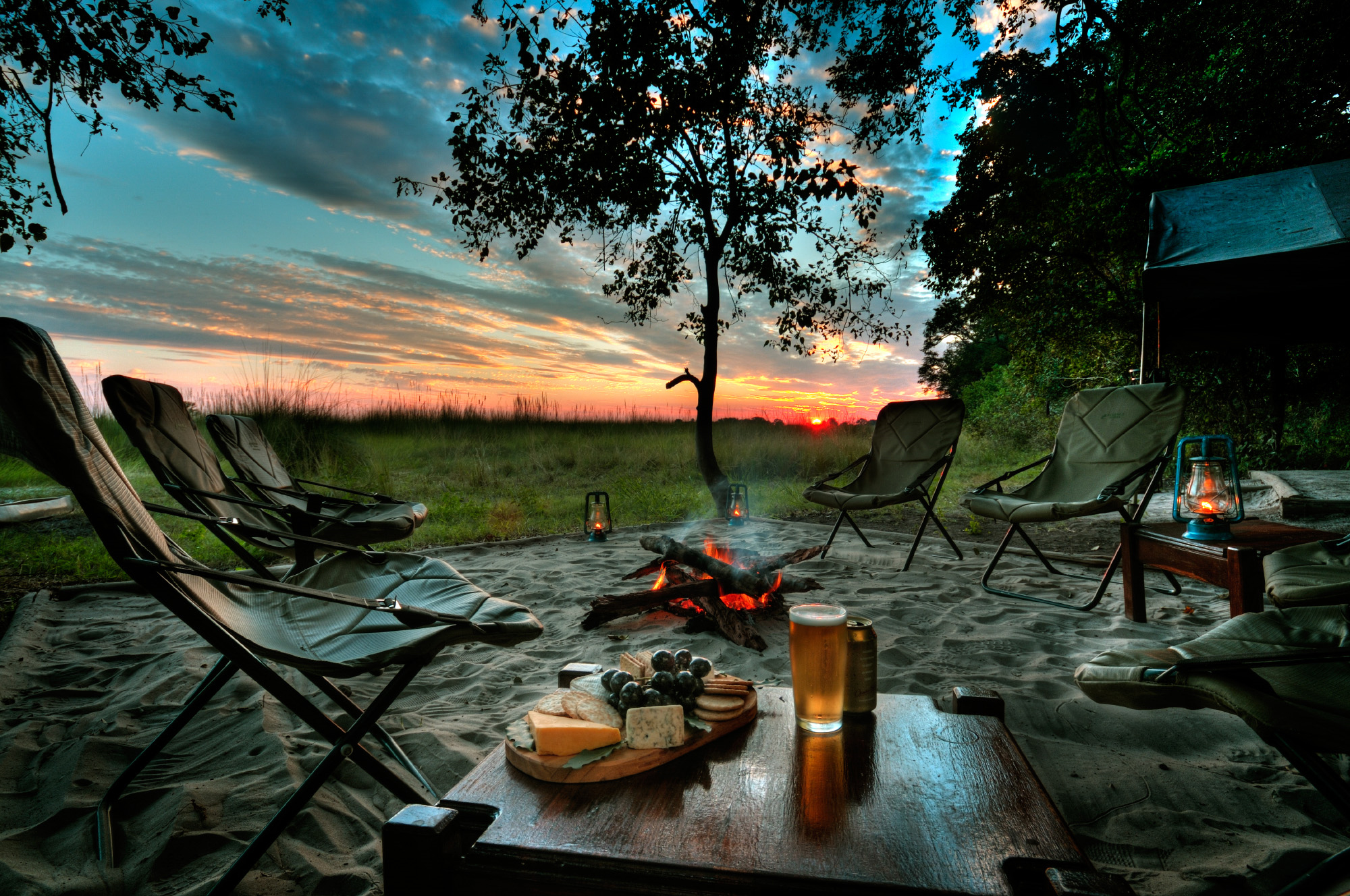 Camping at Sunset Full HD Wallpaper and Background Image ... Camping Forest Wallpaper