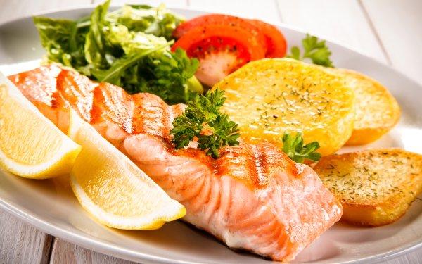 Alimento Pescado Comida Salmon Fondo de pantalla HD   Fondo de Escritorio