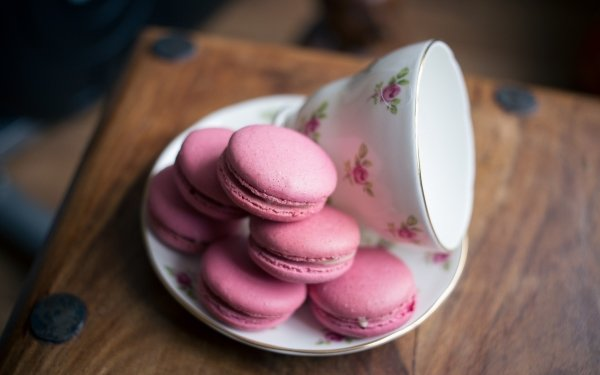 Food Macaron Sweets Cup HD Wallpaper | Background Image