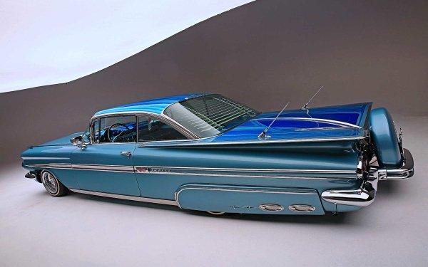 Vehicles Chevrolet Impala Chevrolet 1959 Chevrolet Impala Lowrider HD Wallpaper | Background Image